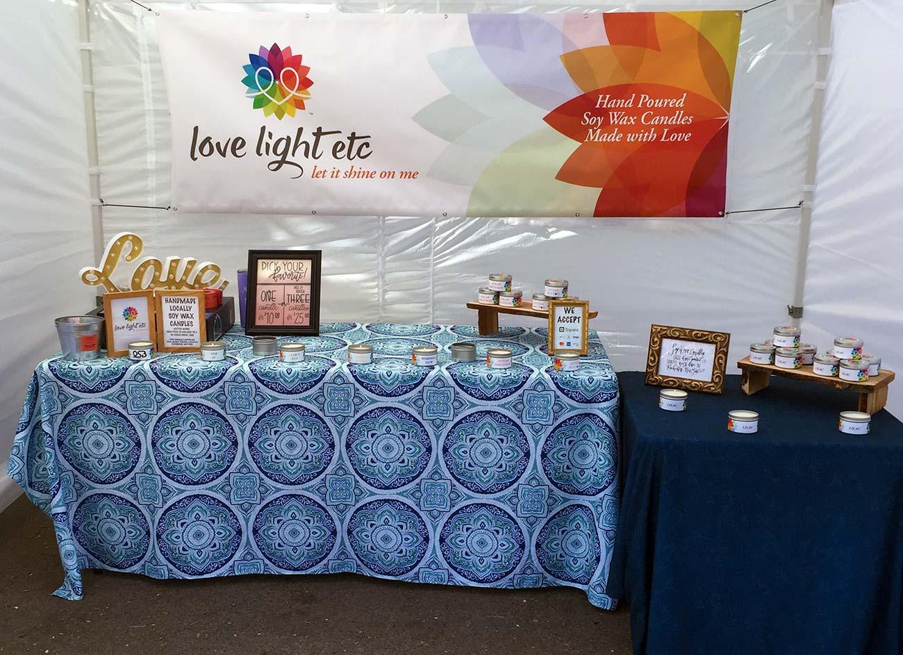 Love Light Etc Event Booth
